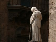 Palerme, Sicile, Italie 11/04/2010 Cathédrale, vue du sculp photos stock