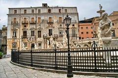 Palerme, Sicile, Italie, Fontana Pretoria Images libres de droits