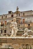 Palerme, Sicile, Italie, Fontana Pretoria, vieille ville, Photographie stock