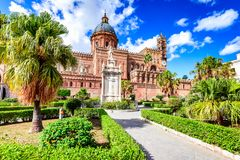 Palerme, Sicile, Italie Norman Cathedral photos libres de droits