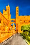Palerme, Sicile, Italie Norman Cathedral photo stock