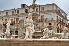 Palerme, Sicile, Italie, vieille ville, Fontana Pretoria Images stock