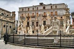 Palerme, Sicile, Italie, vieille ville, Fontana Pretoria Photographie stock libre de droits
