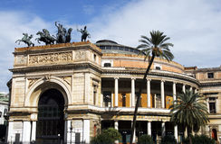 Palermo. Beautiful opera building in Palermo - capital city of Sicily Royalty Free Stock Images