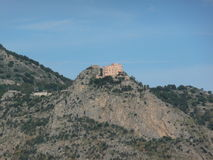 Palermo. Utveggio Castle in the Pellegrino's mountain, Palermo, Sicily stock photos