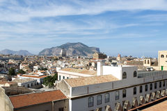Palermo aerial view royalty free stock photography