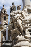 Palermo - Angel statue from baroque column Stock Image