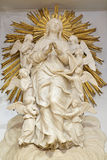 PALERMO - APRIL 8: Baroque statue of Virgin Mary in heaven from Dom on April 8, 2013 in Palermo, Italy. Stock Photos