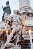 Palermo - archangel Michael on baroque column Royalty Free Stock Photography