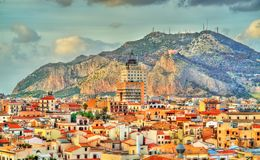 Palermo as seen from the roof of the Cathedral - Sicily. Italy Stock Photo