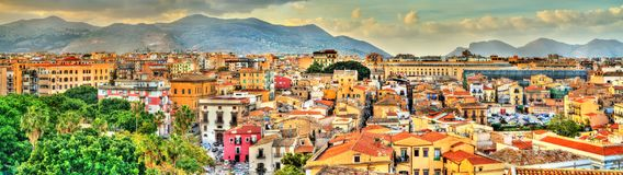 Palermo as seen from the roof of the Cathedral - Sicily. Italy Royalty Free Stock Photography
