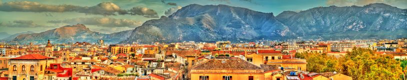 Palermo as seen from the roof of the Cathedral - Sicily. Italy Royalty Free Stock Photo