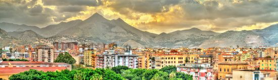 Palermo as seen from the roof of the Cathedral - Sicily. Italy Stock Image