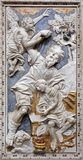 Palermo - barocke Entlastung von Abrahams-Beweis in Kirche Chiesa-Di Santa Caterina stockbilder