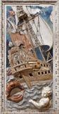 Palermo - Barokke hulp van scène van helderziende Jonas in Di Santa Caterina van kerkchiesa stock fotografie