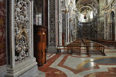 Palermo baroque church interior. Sicily, Italy Royalty Free Stock Photos