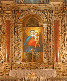 Palermo - Baroque side altar with Madonna paint from chapel on the north side of Monreale cathedral Stock Photography