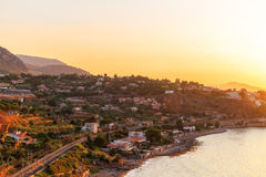 Palermo Bay Sunset. Sunset over the Bay of Palermo Stock Photography