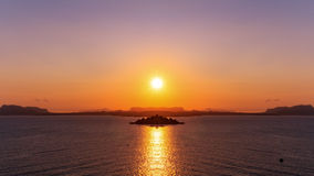 Palermo Bay Sunset. Sunset over the Bay of Palermo / Mirror Image Royalty Free Stock Image