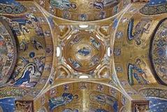 Palermo - bysantinsk mosaik från kyrka av Santa Maria dell Ammiraglio Royaltyfri Bild