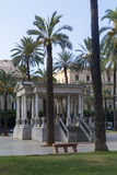 Palermo. Castelnuovo square, old stage music,  Palermo sicily Italy Royalty Free Stock Photos