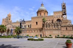 Palermo Cathedral. The Cathedral of Palermo is an architectural complex in Palermo, Sicily, southern Italy. It is characterized by the presence of different Royalty Free Stock Images