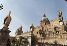 Palermo Cathedral and Bishop Stock Images