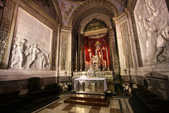 Palermo cathedral chapel stock image