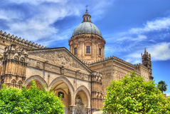 Palermo Cathedral in hdr. Sicily, Italy Stock Photos