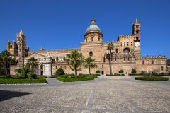 Palermo cathedral, Italy. Palermo cathedral, Sicily island, Italy Stock Photos