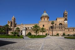 Palermo cathedral, Italy. Palermo cathedral, Sicily island, Italy Royalty Free Stock Photos
