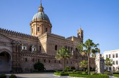 Palermo cathedral, Italy. Palermo cathedral, Sicily island, Italy Royalty Free Stock Photo