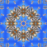 Palermo Cathedral, kaleidoscope composition. Royalty Free Stock Photo