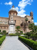Palermo cathedral. The medieval cathedral in Palermo in May, Sicily, Italy Royalty Free Stock Photography