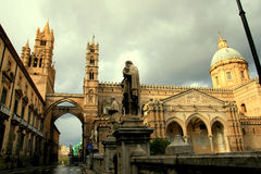 Palermo Cathedral norman arabic architecture Stock Photo