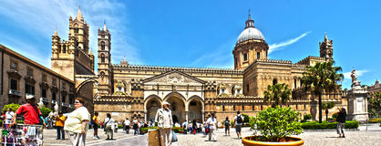 Palermo Cathedral photomerge Royalty Free Stock Photography