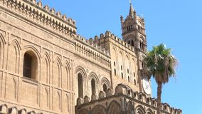 Palermo cathedral, is a place of Catholic worship. stock video