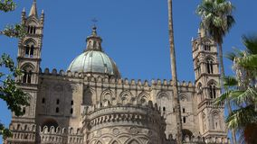 Palermo cathedral, is a place of Catholic worship. Palermo Cathedral, is a place of Catholic worship, archbishop of the Archdiocese. Part of the World Heritage stock video footage