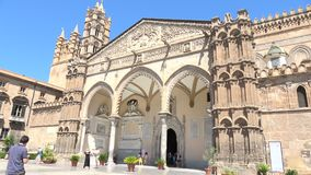 Palermo cathedral, is a place of Catholic worship. stock footage