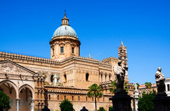 Palermo Cathedral is Roman Catholic Archdiocese of Palermo, Pale Stock Image