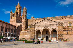Palermo Cathedral, Sicily, Italy. PALERMO - OCTOBER 05: Image with Cathedral  on October 05th, 2009, Palermo, Italy. Santa Maria Assunta Cathedral most touristic Stock Photo