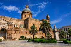 Palermo Cathedral, Sicily, Italy. Palermo, Sicily. Cathedral was built in Norman structure in 1179. Santa Maria Assunta Cathedral, landmark of Italy Royalty Free Stock Photo