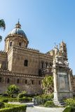 Palermo Cathedral in Palermo, Sicily, Italy. Facade of the cathedral of Palermo in the old town of Palermo in Sicily, Italy Stock Images