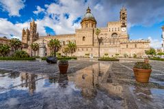 PALERMO CATHEDRAL, SICILY stock photography