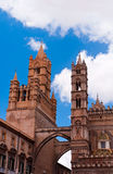 Palermo Cathedral. Two towers of Palermo Cathedral Royalty Free Stock Images
