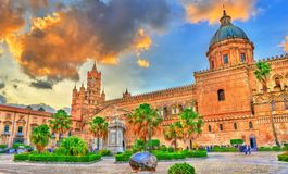 Palermo Cathedral, a UNESCO world heritage site in Sicily, Italy. Palermo Cathedral, a UNESCO world heritage site in Sicily - Italy Royalty Free Stock Photos
