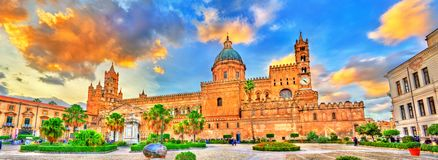 Palermo Cathedral, a UNESCO world heritage site in Sicily, Italy. Palermo Cathedral, a UNESCO world heritage site in Sicily - Italy Stock Image