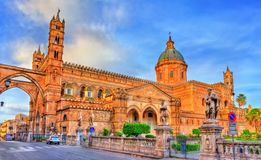 Palermo Cathedral, a UNESCO world heritage site in Sicily, Italy. Palermo Cathedral, a UNESCO world heritage site in Sicily - Italy Royalty Free Stock Images