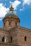 Palermo Cathedral. View on the dome of Palermo Cathedral Royalty Free Stock Image