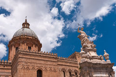 Palermo Cathedral. View on the dome of Palermo Cathedral Royalty Free Stock Photo